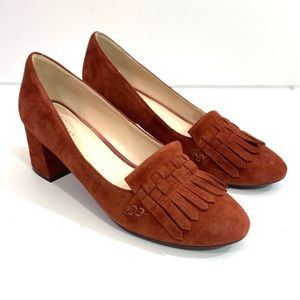 Cole Haan Mabel Grand Suede Pump In Brandy Brown